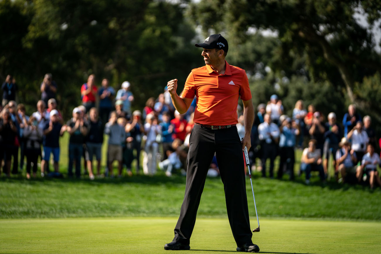 Sergio Garcia, after making the last putt at the Real Club Valderrama (©Real Club Valderrama)