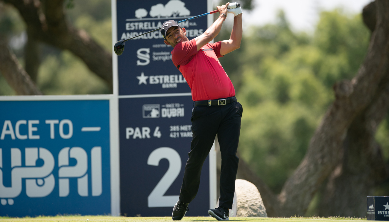 Pablo Larrazábal in the 2019 Estrella Damm N.A. Andalucía Masters (credit © Real Club Valderrama)