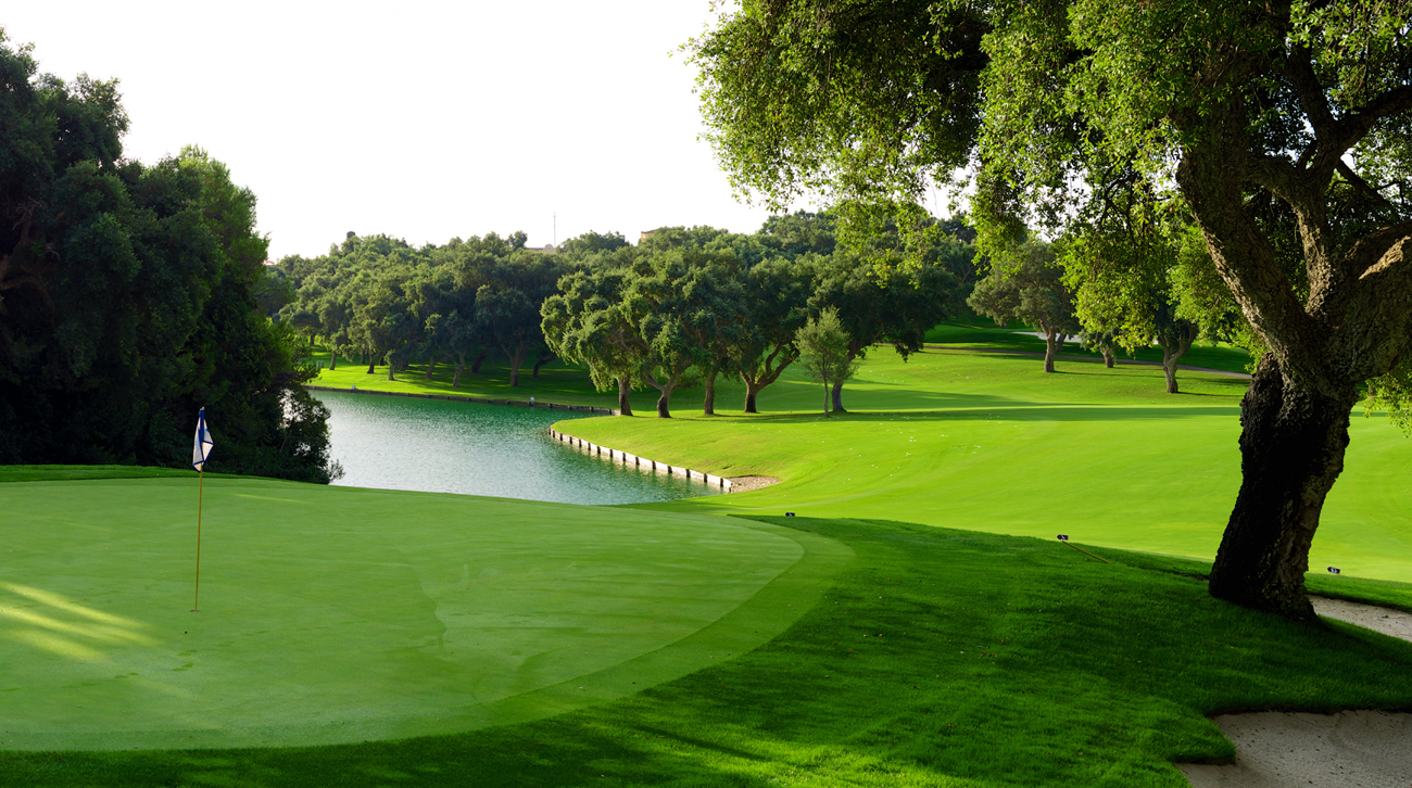 A view of the 10th hole of the Real Club Valderrama, the venue for a new Estrella Damm N.A. Andalucía Masters (credit © Real Club Valderrama)