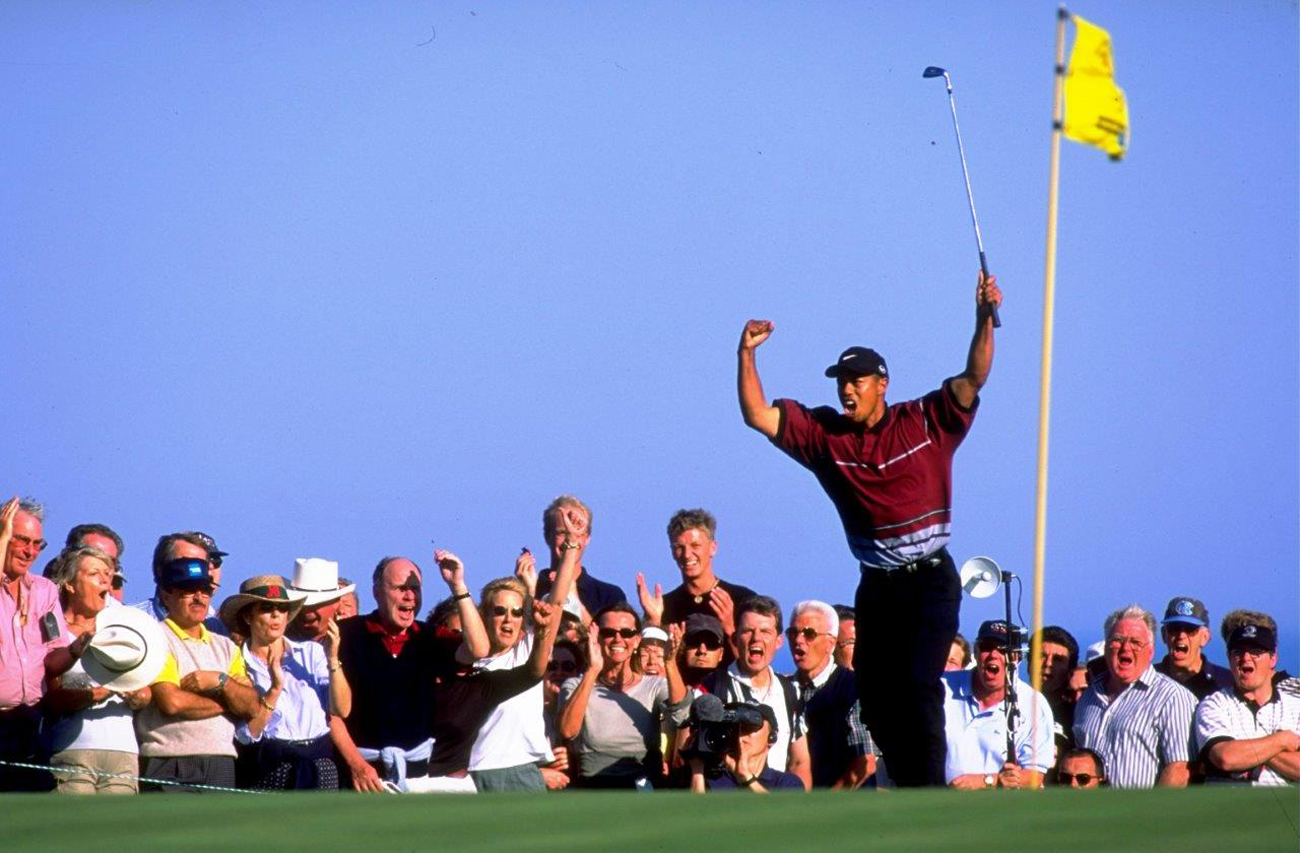 Tiger Woods, winner of the 1999 WGC American Express Championship at Valderrama (credit © Getty Images)